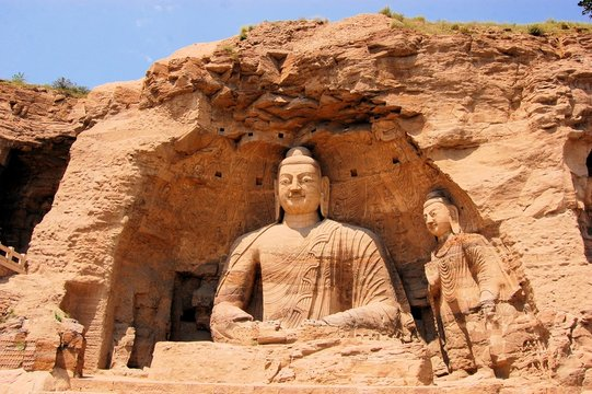 UNESCO Yungang Grottoes Buddhist caves, China