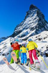 Family winter ski holidays in Zermatt, Switzerland
