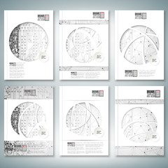 Electronic circuit, microchip background. Brochure, flyer or