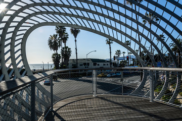 Abstract architecture at Tongva Park, in Santa Monica, Californi