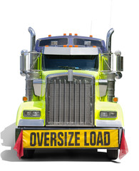 OVERSIZE LOAD sign semi tractor truck