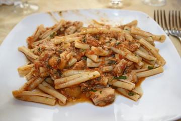 pasta sauced fish