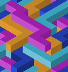 3D clor shape's seamless pattern