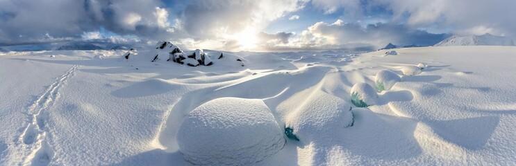 Arctic winter panorama - Svalbard