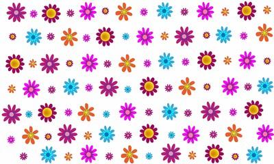 Fondo de flores de colores.