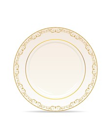 floral ornament plate isolated