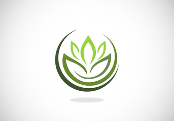 Lotus Flower Shape Beauty Logo Buy This Stock Vector And Explore