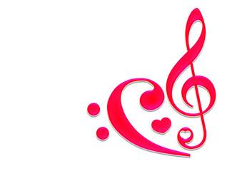 Musiknote mit Herz / Sheet Music Heart