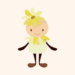 flower elf theme elements vector,eps