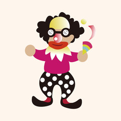 clowns theme elements vector,eps