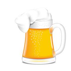 Single mug of beer.