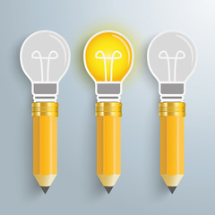 3 Creative Pencil Bulbs PiAd