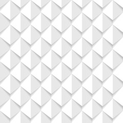 white 3d geometric seamless background