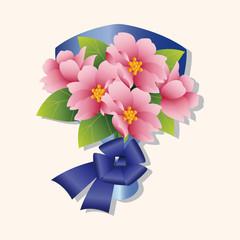 flower bouquet theme elements vector,eps