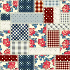Patchwork in country style.