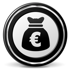 euro bag icon with metal ring