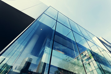 modern office building exterior and glass wall