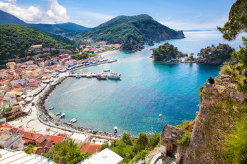 Panoramic view of Parga port, Greece.
