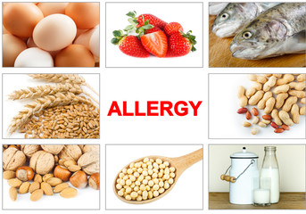 Allergy food concept