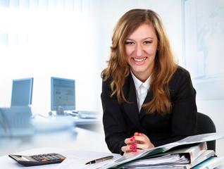 business, pen, women