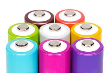 Multicolored Batteries