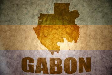 gabon vintage map
