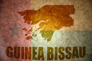 guinea bissau vintage map