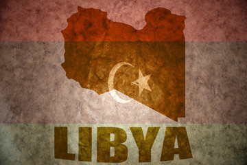 libya vintage map