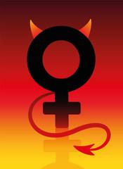 Female Devil Bad Girl Sign