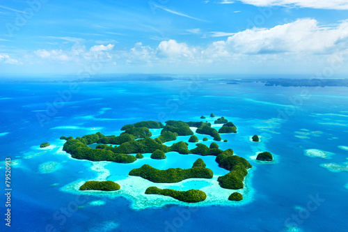 Wall mural Palau islands from above