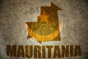 mauritania vintage map