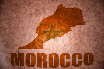 morocco vintage map