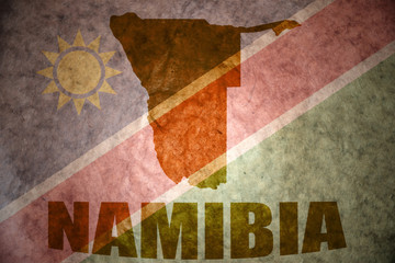 namibia vintage map
