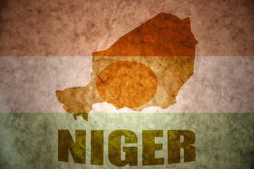 niger vintage map