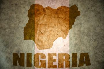nigeria vintage map