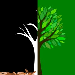 Vector Simple Green Tree - Earth day