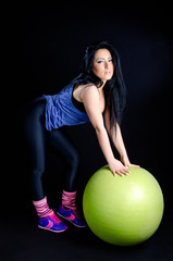 Woman With Exercise Ball