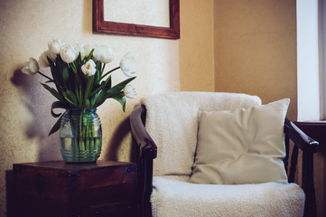 Home interior, vintage chair