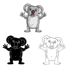 Coloring book Koala Smile cartoon character