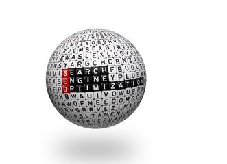 SEO ,Search Engine Optimization 3d ball