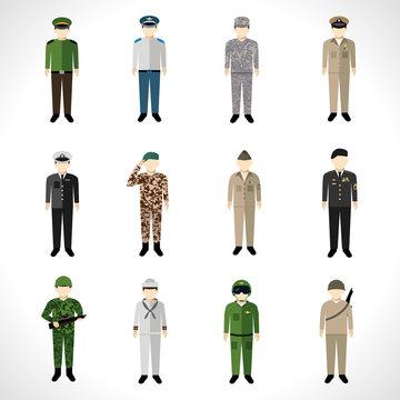 Military Avatars Set