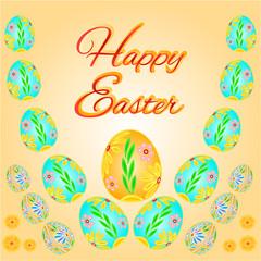 Easter eggs Easter vector
