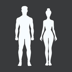 man and woman icon body vector figure sport