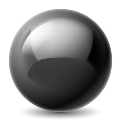 Black metallic ball