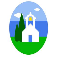 Greek church Easter egg sticker