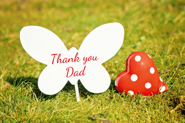 outdoor greeting card with text - thank you dad