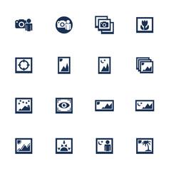 Media photo icons