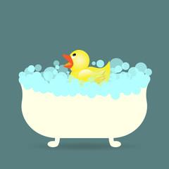 duck in the bathtub