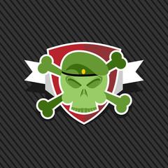 Emblem Army. Skull on shield