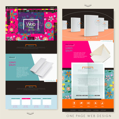 adorable flower one page website design template